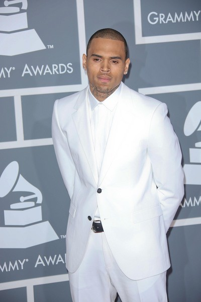 chris brown in white